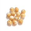 light orange sugar beads, gold flakes, sugar beads, beads, light orange, light orange beads, 8mm, gold flake beads, orange beads, light orange beads, glitter beads, sugar, jewelry making, jewelry beads, jewelry supplies, vintage supplies, B'sue, 01251