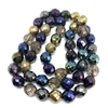 Mixed Metallics, glass beads, fire-polished beads, Czech glass, metallic beads, beading supplies, opaque beads, beads, metallized beads, jewelry supplies, B'sue Boutiques, round beads, 10mm, 01591