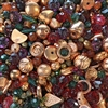 sunset drive bead mix, vintage acrylic beads, beads, bead mix, drilled beads, acrylic bead mix, vintage beads, assorted beads, green beads, red beads, pink beads, B'sue Boutiques, jewelry beads, designer beads, beading, beading supplies, 01695