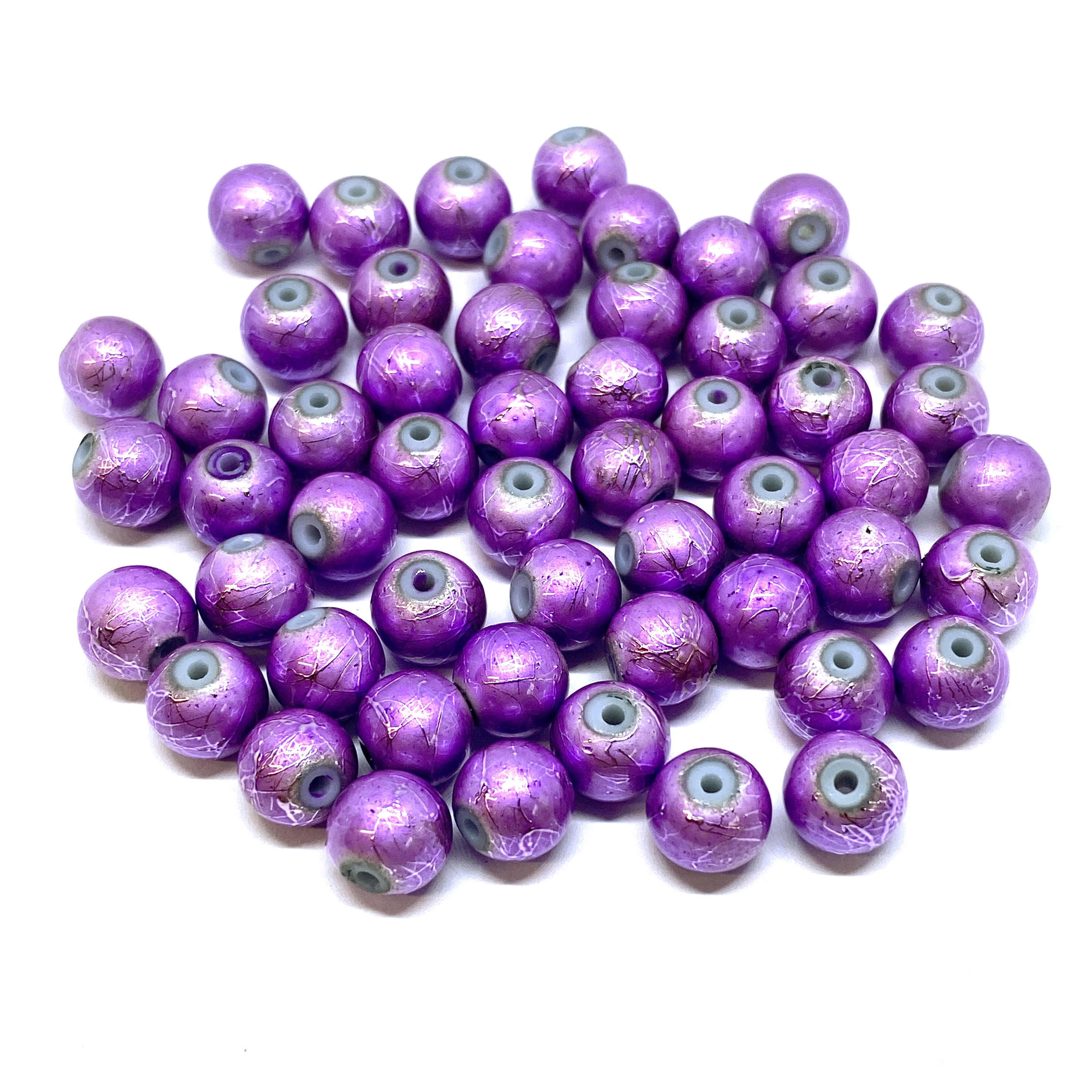spectra beads, glass beads, jewelry supplies, colorful beads, purple beads, orchid, glass, spectra, 8mm, B'sue Boutiques, jewelry making, jewelry beads, beads, beading supplies, 01709