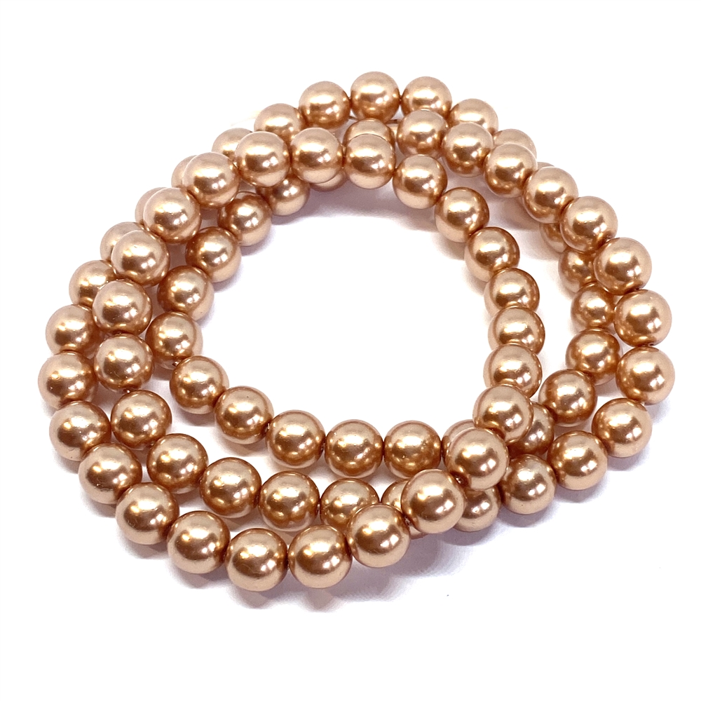 soft copper pearl beads, 8mm bead, glass pearl, Czech, B'sue Boutiques, bead, jewelry making, beading supplies, vintage supplies, pearl, pearl beads, glass beads, jewelry supplies, jewelry beads, copper beads, 01762, peach pearls, copper pearls