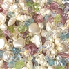 mixed pearls, cultura pearls, assorted acrylic beads, bead mix, vintage pearls, MOD cultura, designer quality, designer pearls, pearls to make jewelry, costume pearls, bead assortment, spring mix, pastel colors, pastel beads, 01936