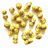 lampwork beads, India glass beads, 10-20mm, beads made by hand, lamp glass, wedding cake beads, glass beads, yellow bead, white with gold trim beads, beading supplies, jewelry making supplies, B'sue Boutiques, 0211