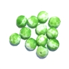Green faceted glass beads, German glass beads, beading supplies, two tone beads, white and green, jewelry making, jewelry supplies, vintage supplies, B'sue, round beads, 8mm, faceted beads, glass beads, 0217