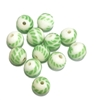 Czech glass candy cane beads, green white, 8mm, 0226, jewelry making supplies, beading supplies, Czech beads, bsueboutiques, candy cane beads, round beads, sphere beads,  green white beads,
