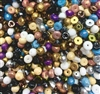 Czech Hill Beads, Mixed Colors, Sampler, assorted hill beads, bead mix, bead assortment, glass beads, Czech, 8mm beads, hill beads, designer beads, fashion, B'sue Boutiques, designer bead mix, Czech glass beads, glass beads in assorted colors, 02481