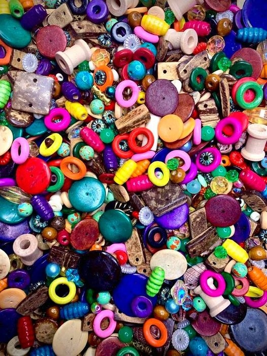 bd02485,kitchen sink bead mix, everything bead mix, red wood beads, patina beads, coco wood, disc beads, barrel beads, cheerio beads, wooden connectors, vintage beads, lucite beads, plastic beads, B'sue Boutiques, colorful wood beads, beads for knotting