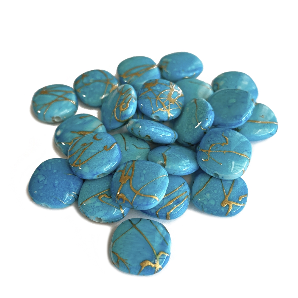 deep-sky blue drawbench acrylic beads, square beads, deep sky blue beads, gold accents beads, acrylic beads, beads, 12mm beads, gold accents, drawbench, jewelry beads, beading supplies, jewelry making, vintage supplies, jewelry findings, 02494