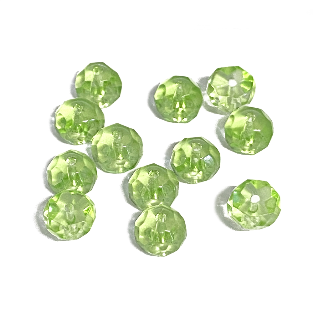 Czech glass hill beads, light green, beads, dome beads, hill beads, Preciosa glass, Czech, glass beads, glass, transparent glass beads, 8mm beads, transparent beads, half dome beads, fire polished beads, light green beads, jewelry beads, B'sue, 02753