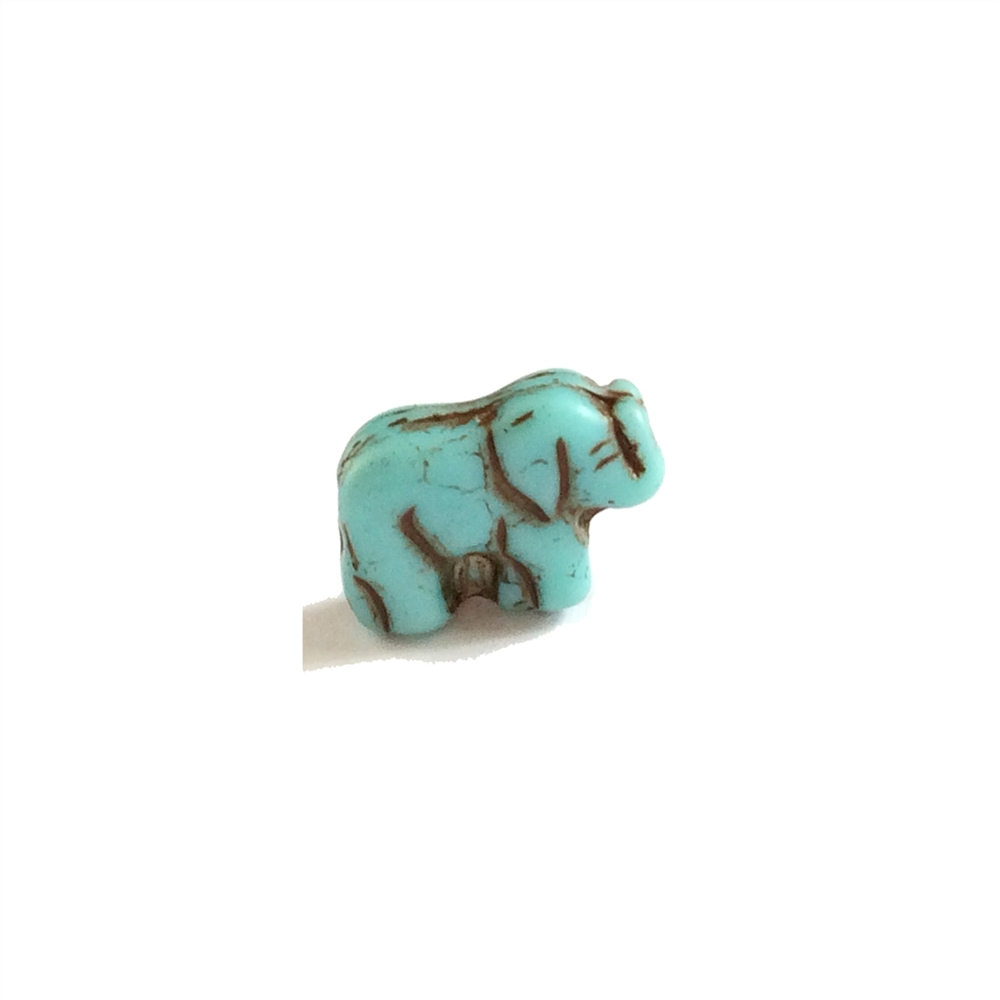 elephant beads, glass beads, antiqueturquoise, 11mm, 03163, beading supplies, vintage jewelry supplies, jewelry making supplies, Bsue Boutiques,