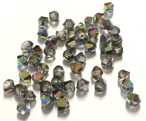 vitrail, Glass  Bi Cone Beads, 4mm, 03176, Preciosa, glass beads, beads, imitation, bi cone beads, Czech, crystal beads, faceted, bead, glass,  us made, nickel free, b'sue boutiques, jewelry making, jewelry findings, vintage supplies