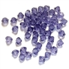 Tanzanite, Glass  Bi Cone Beads, 4mm, 03178, Preciosa, glass beads, beads, imitation, amethyst round beads, Czech, crystal beads, faceted, bead, glass,  us made, nickel free, b'sue boutiques, jewelry making, jewelry findings, vintage supplies