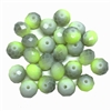 Faceted glass beads, glass beads, beading supplies, green and grey, jewelry making, jewelry supplies, vintage supplies, B'sue, rondelle beads, 8mm, faceted beads, 03223, beads, green and gray