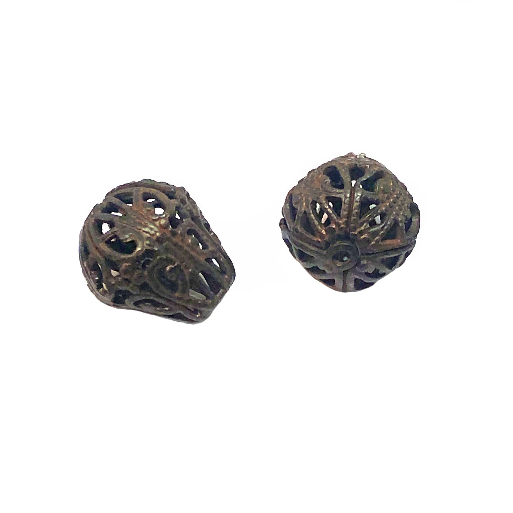 brass beads, filigree beads, chocolate brass, choxie, jewelry making, B'sue Boutiques, jewelry supplies, metal beads,  jewelry findings, altered art, mixed media jewelry, vintage jewelry supplies, filigree, US Made, nickel free, 03332