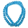 Czech glass beads, aquamarine, glass beads, beads, fire polished, blue beads, aqua beads, faceted beads, beading supplies, jewelry making, B'sue Boutiques, temp strung beads, 10 x 8mm, 03341