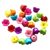 Acrylic Flowers, Assorted Colors, 03463, flower, transparent, opaque beads, tulip  flower, 11x9mm, acrylic, jewelry making, jewelry supplies, vintage supplies, bead caps, flower bead caps, multi-color, assortment
