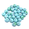 Faceted glass beads, glass beads, beading supplies, light blue, jewelry making, jewelry supplies, vintage supplies, B'sue, rondelle beads, 8mm, faceted beads, 0354, beads, robin's egg blue, speckled pattern of pink and green