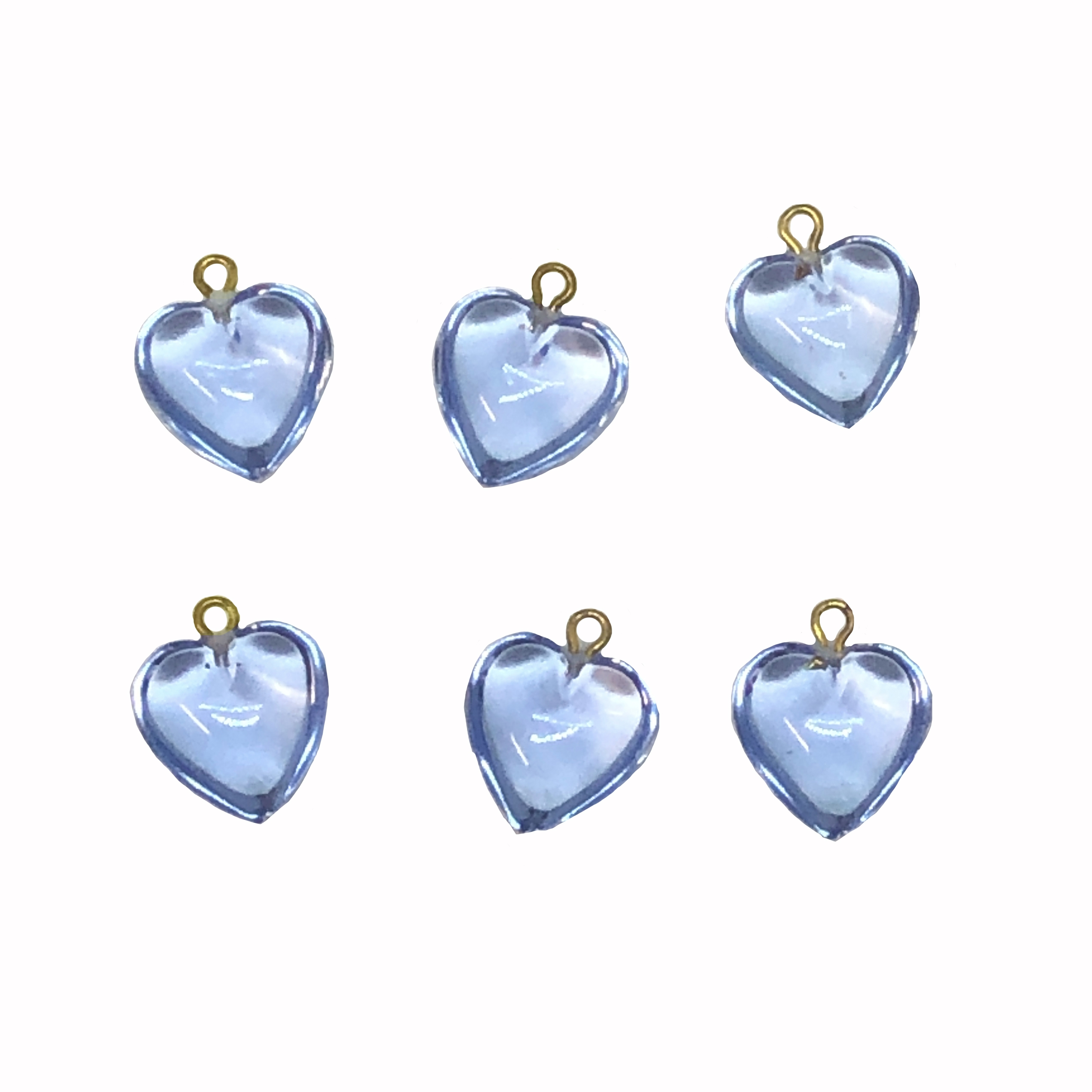 blue hearts, heart charms, 03582, acrylic hearts, gold tone loop, plastic heart charms, heart, blue, Bsue Boutiques, jewelry supplies, charms, heart charm, hearts