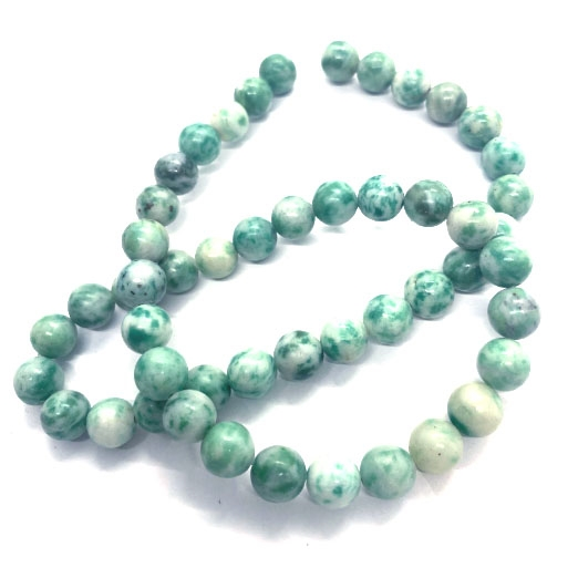 jade green beads, green beads, beads, semi-precious, natural stones, jade beads, jade, 8mm, Zing Jiang jade, beading supplies, jewelry making, jewelry supplies, B'sue Boutiques, Xing Jiang, 03958