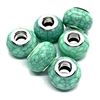 green crackle beads, acrylic beads, beads, large hole beads, 14mm, 5mm hole, beading supplies, jewelry making, jewelry supplies, B'sue Boutiques, jewelry findings, 04328, green beads, opaque green, acrylic, simulated green turquoise