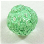 acrylic beads, floral beads, mint crystal, 14mm