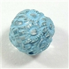 acrylic beads, floral beads, blue crystal, 14mm