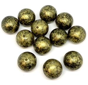 composition plastic beads, gold and black, 04924, huge ball beads, focal beads, jewelry making supplies, vintage jewelry supplies, bsue boutiques, nickel free, US made, Bsue Boutiques, designer beads