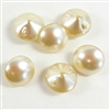 vintage pearl beads, glass pearl, cream, 11mm