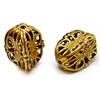 filigree beads, classic gold plated, brass bead, brass, gold, gold plated, classic gold, filigree, cube beads, designer findings, designer beads, steampunk art jewelry, beading supplies, vintage supplies, jewelry making, indented cube style, drilled,05018