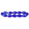 sapphire & sky blue faceted oval beads, oval beads, faceted beads, 12x8mm beads, beads, B'sue Boutiques, Czech glass, jewelry making, beading supplies, transparent beads, glass beads, sapphire beads, sky blue beads, faceted oval beads, 05056
