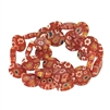 red millefiori beads, red millefiori, millefiori, beads, circle beads, flat circle stone beads, millefiori beads, mix color beads, glass beads, Czech glass beads, jewelry making, vintage supplies, 12mm beads, beads, jewelry making, jewelry findings, 05044