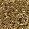 gold plated beads, big beads bead mix, bead mix, gold beads, textured beads, pattern beads, metal beads, jewelry beads, gold, vintage beads, acrylic beads, vintage plated beads, large beads, B'sue Boutiques, designer beads, beads, 05079