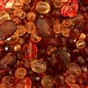 amber, cherry amber, plastic, lucite, color of amber, color of cherry amber, smoke topaz beads, tangerine, B'sue Boutiques, designer plastic beads, plastic beads, vintage plastic beads, lucite beads, glass beads, vintage glass beads, assorted bead mix