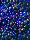 bd05120, blue velvet, dark sapphire, black,vintage, acrylic, designer bead mix, mixed beads, mixed colors and shaped beads, vintage beads, B'sue Boutiques, midnight blue, crushed velvet, crazy quilt, burgundy, deep green, jet black, melon beads