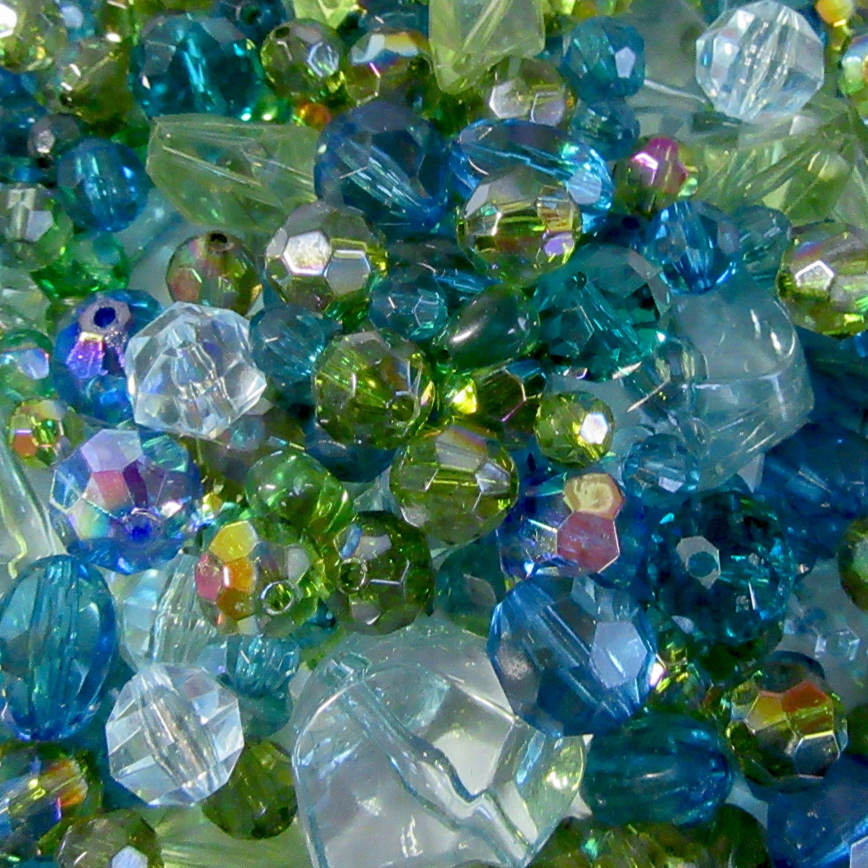 vintage beads,  green, emerald, blues, ab coats, B'sue Boutiques, mixed beads, beads mix, assorted beads, vintage acrylic beads, acrylic beads, designer beads, green beads, emerald green beads, jewelry designer, beaded jewelry, beading, bag of mixed beads