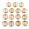 Topaz beads, B'sue, jewelry supplies, beads, vintage, resin beads, B'sue Boutiques, 05166, copper, round, flat, faceted, vintage supplies, bead stringing, jewelry making, vintage jewelry supplies, 20mm