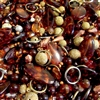 vintage beads, gold dust, wooden beads, bead mix, gold dust beads, metal rings, amber, root beer, tortoise shell, wooden beads, natural beads, beads mix, assorted beads, vintage beads assortment, B'sue Boutiques, vintage plastic beads, spice market