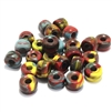 Roller beads, mixed colors, Czech glass, 052, smooth beads, 9mm, beading supplies, jewelry making supplies, vintage jewelry supplies, bsueboutiques, glass beads, Native Indian beads, Crow beads