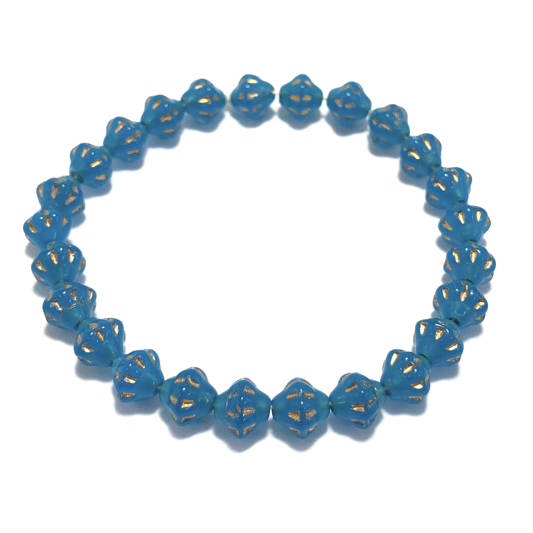 Glass Saturn beads, glass beads, blue aqua, Czech glass beads, saucer beads, Czech glass, opaque beads, US made, B'sue Boutiques, jewelry making, beading supplies, jewelry making supplies, 6mm beads, bsueboutiques, accent beads, 0520
