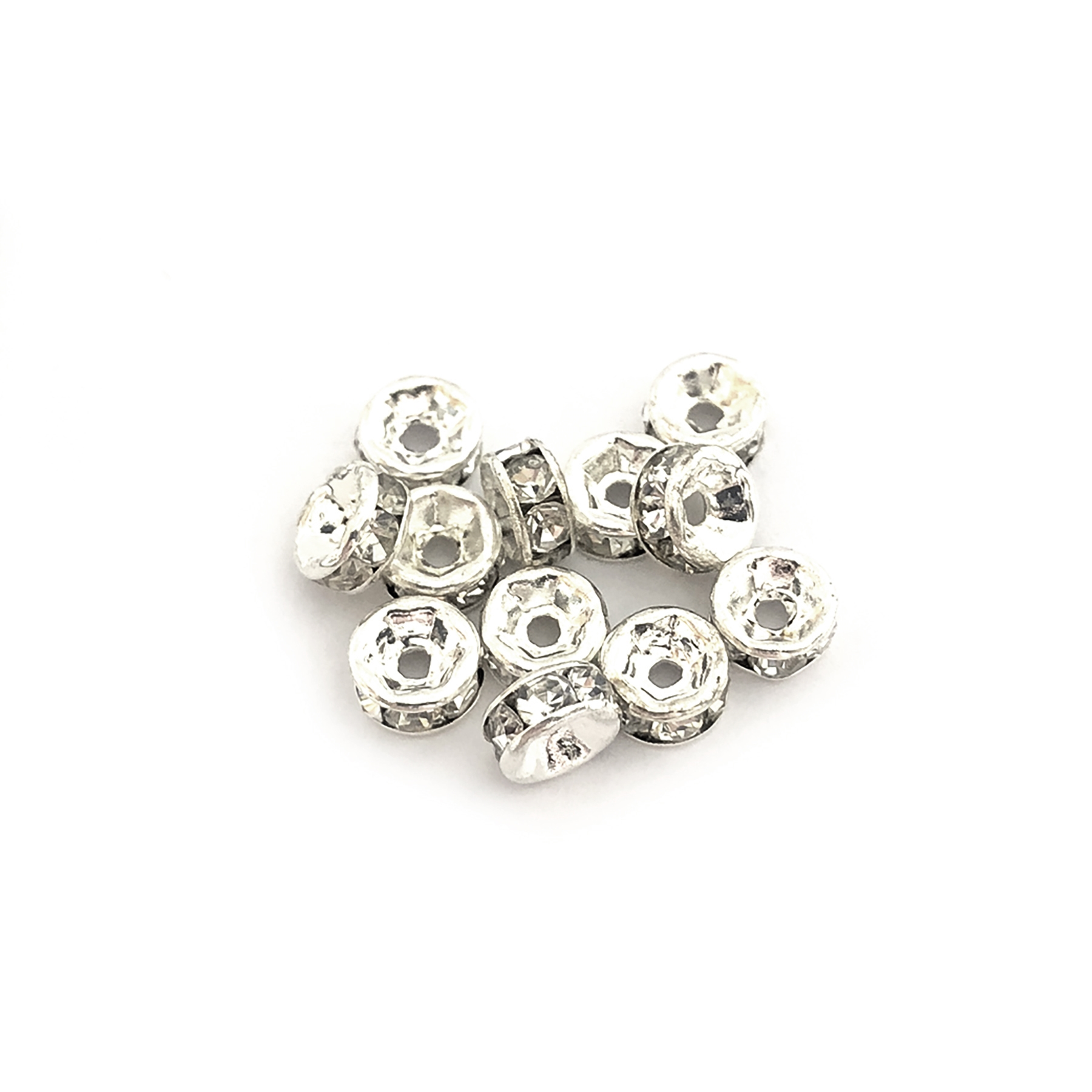 rhinestone rhondelles, crystal, silver, 5mm, 05246, vintage jewelry supplies, jewelry making supplies, Bsue Boutiques, US made, crystal rhinestones,
