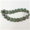 glass leaf beads, jewelry making, sea green,10mm