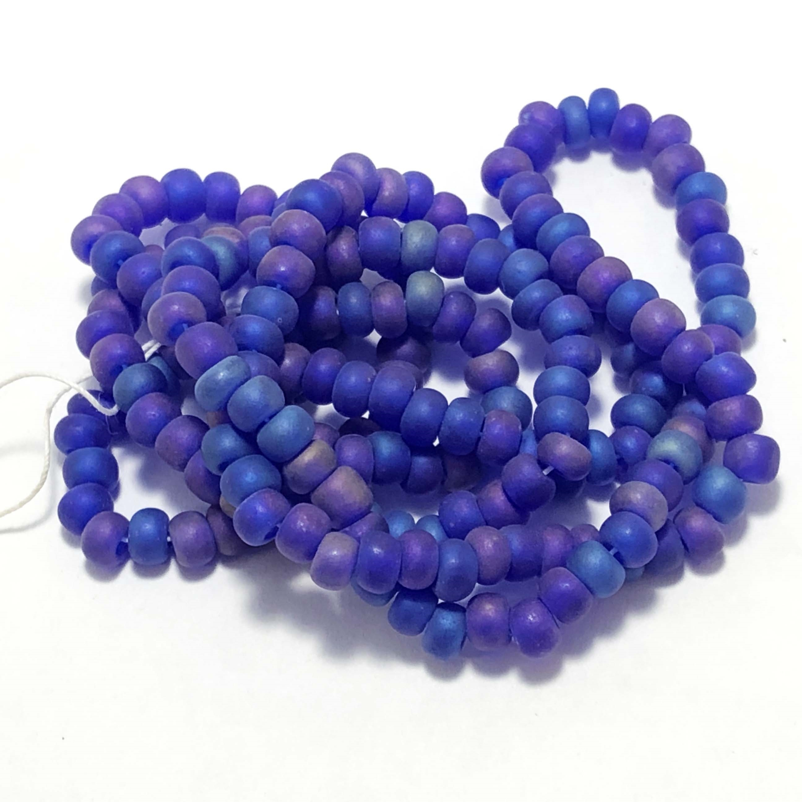 Spacer Beads, Beading Supplies, Purple Blue, 05341, acrylic beads, vintage jewelry supplies, jewelry making supplies, 4mm beads, bsue boutiques