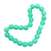 glass druk beads, opalescent sea green, 8mm, 06016, Czech glass, round beads, smooth beads, B'sue Boutiques, jewelry making , beading supplies, green beads, glass beads, jewelry supplies