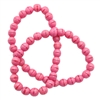 glass druk beads,  Rose Silk pink, 6mm, 06017,  Czech glass, round beads, smooth beads, B'sue Boutiques, jewelry making, beading supplies, pink beads, glass beads, jewelry supplies