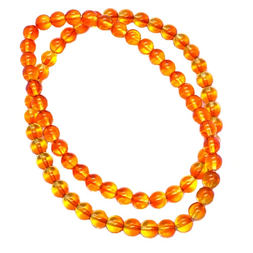 Czech glass, druk beads, jewelry making, jewelry supplies, vintage supplies, B'sue Boutiques, topaz and hyacinth orange beads, glass beads, round beads, smooth beads, beading supplies, 8mm, ombre beads, transparent beads, 06018