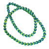 Czech glass, druk beads, jewelry making, jewelry supplies, vintage supplies, B'sue Boutiques, capri blue, and olivine green beads, glass beads, round beads, smooth beads, beading supplies, 8mm, ombre beads, transparent beads, 06020