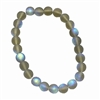 matte smoke grey glass beads, round beads, frosted glass beads, beads, grey beads, crystal beads, AB finish, iridescent, bead, glass, B'sue boutiques, jewelry making, jewelry findings, vintage supplies, beading supplies, 8mm, 06026