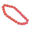 Czech glass beads, fire polished, coral, 06061, glass beads, faceted beads, beading supplies, jewelry making supplies, b'sue boutiques, temp strung beads, vintage jewelry supplies, vintage beads, opaque beads, 8mm