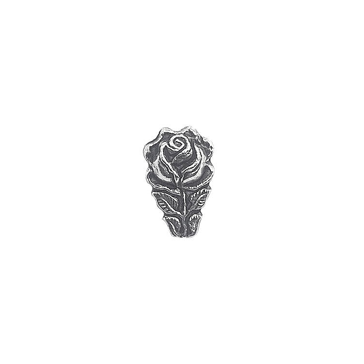 antique silver rose bead, flower bead, carved bead, antique silver bead, 14 x 9mm bead, antique silver, bead, jewelry making, vintage supplies, jewelry supplies, jewelry findings, 06070