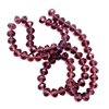 crystal glass deep amethyst beads, faceted rondelle beads, dark amethyst purple, beads, amethyst beads, rondelle beads, purple, 8x6mm, 70 pieces, round, glass, transparent, crystal glass, beading supplies, 06145, jewelry making, B'sue Boutiques